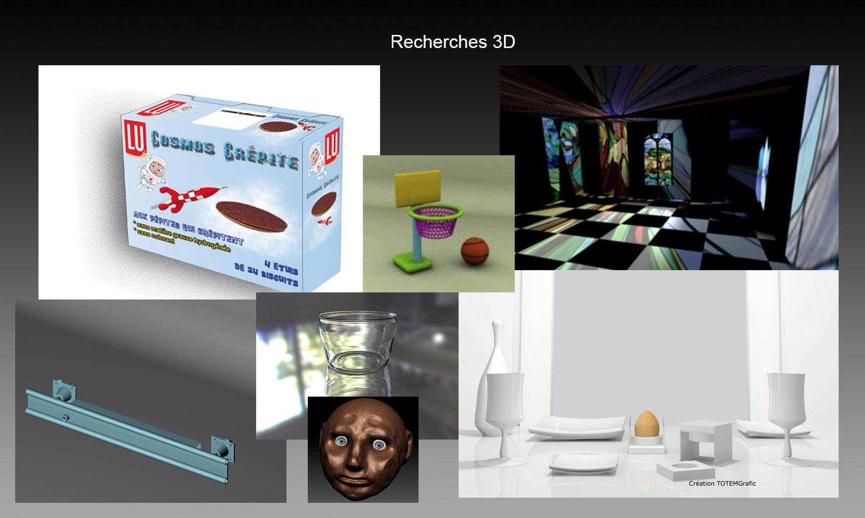 Recherches 3D + conception