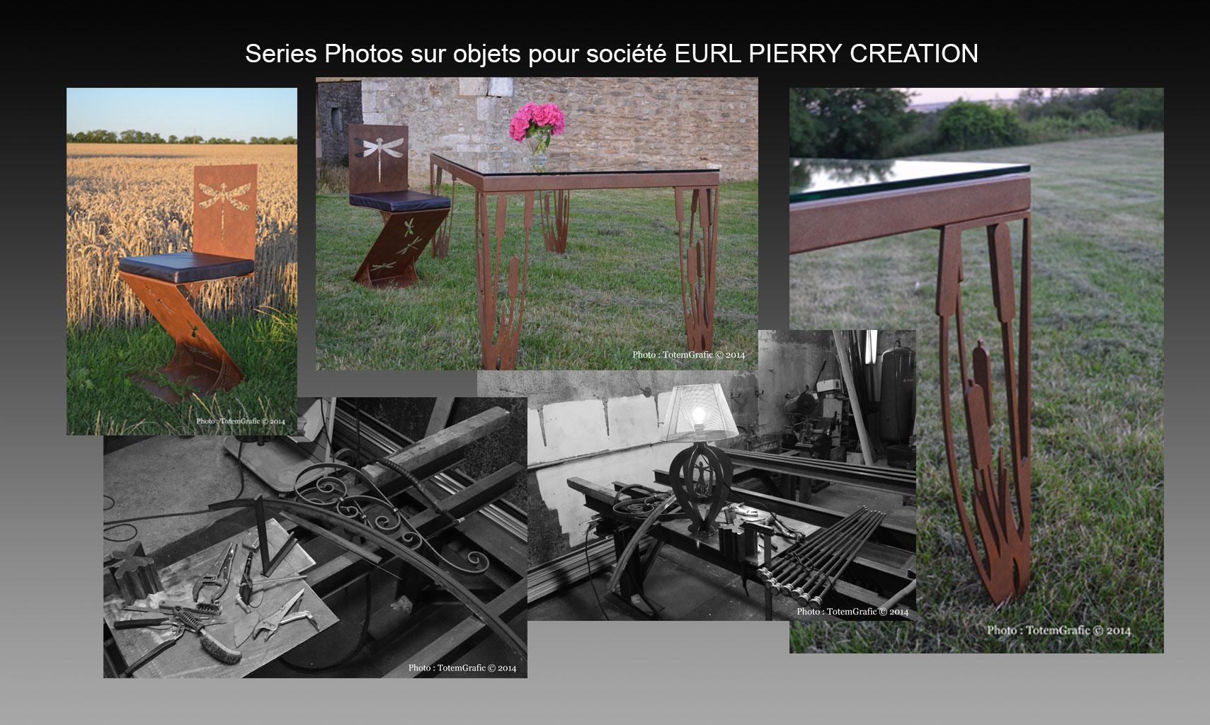 Photos objets : Société Pierry Création